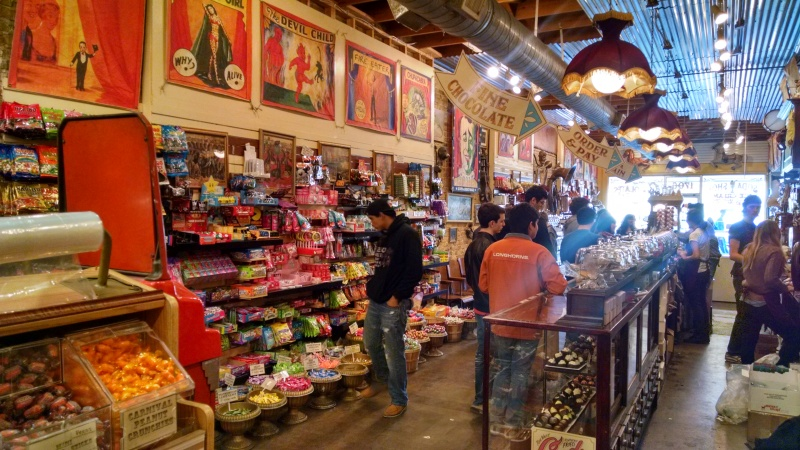 I satisfied my sweet tooth at Big Top Candy Shop, one of the many specialty shops on South Congress Avenue.