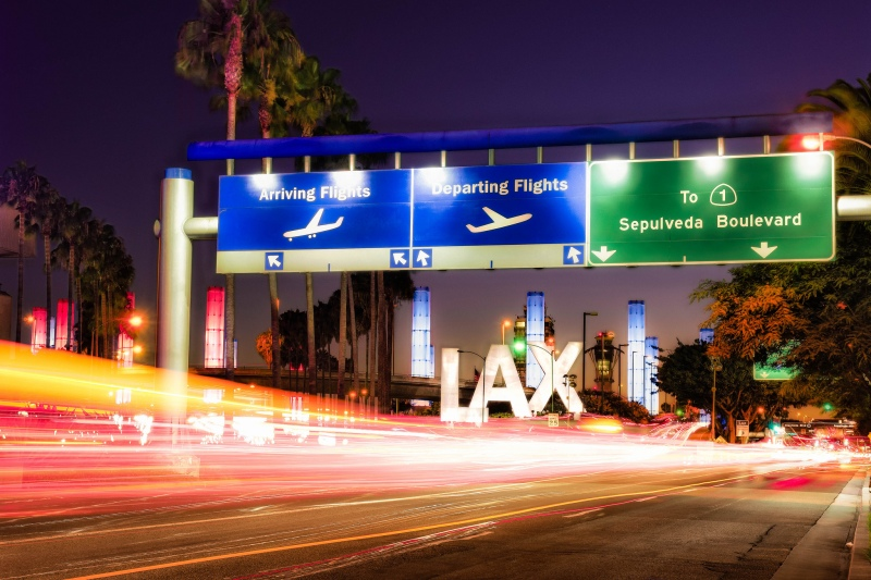 LAX airport entrance via Robert Pratt