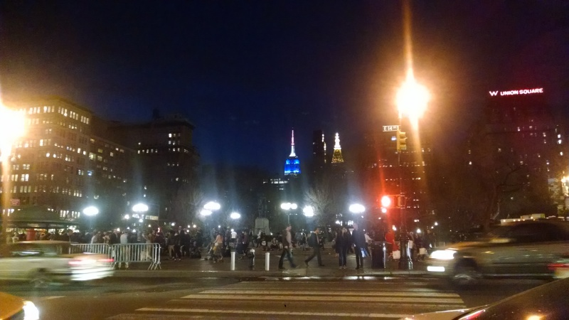 I love finding a good place to do some low-key people watching when I want a break. Union Square.