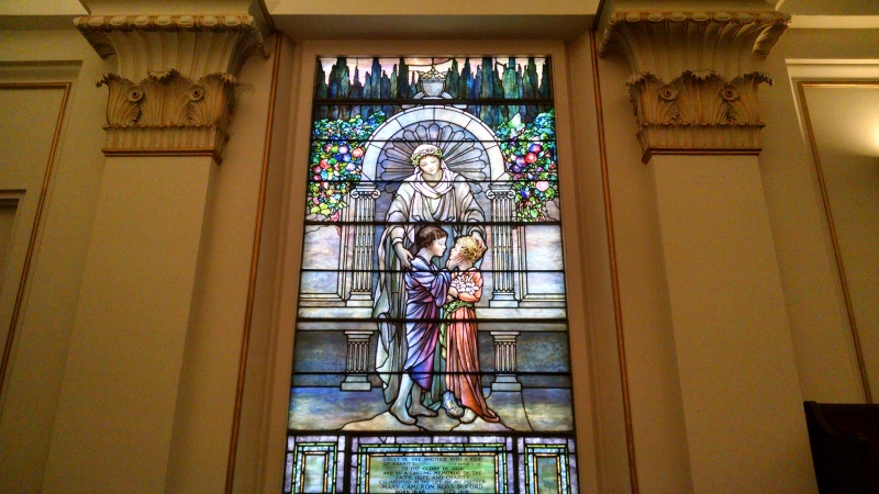 Stained glass memorial window in St. Paul's, Richmond, VA.