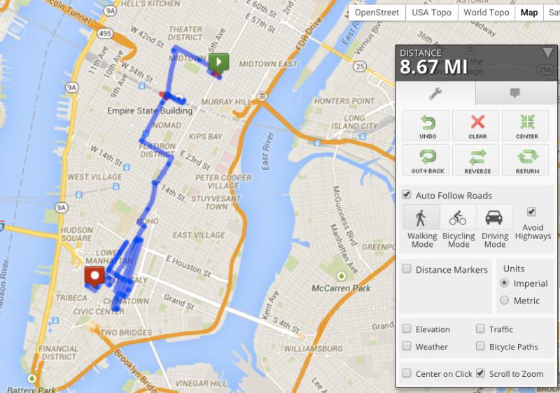 Unplanned city hike through Manhattan, NYC on April 15th 2014