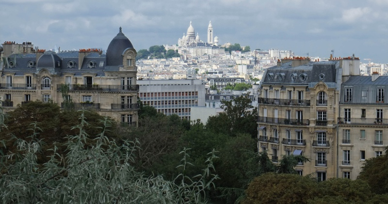 Views of Sacre Coeur, Montmarte, Paris from Parc des Buttes Chamount. Photo courtesy of Eric Huybrechts.
