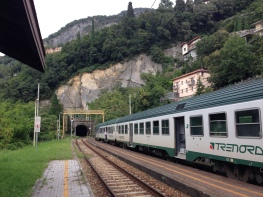 Taking the train in Cinque Terre Italy