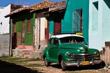 Green Plymouth in Trinidad, Cuba, via Franck Vervial.