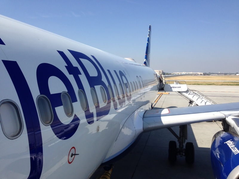 File photo of a JetBlue plane, via Jim Dalrymple II