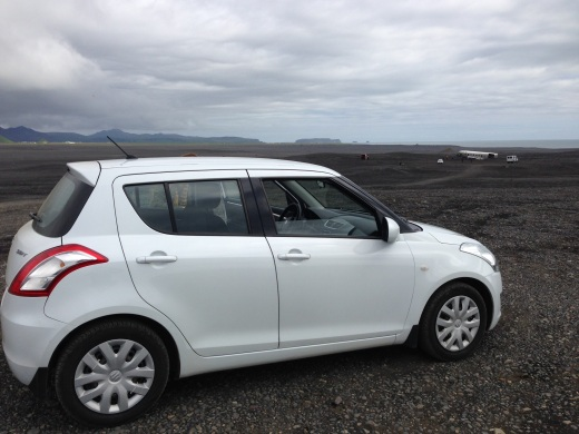 Our rental car this summer in Iceland.