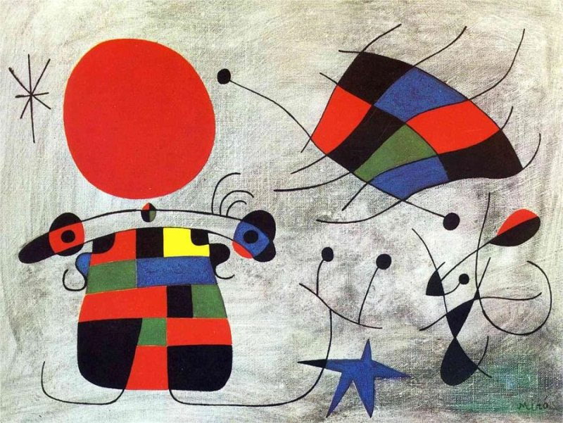 A painting by Mirò