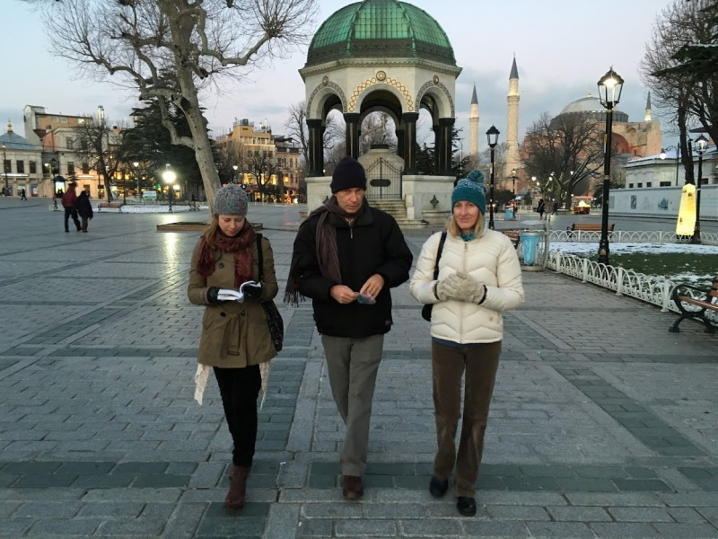 Jim and I travelled with my parents in Turkey this winter.