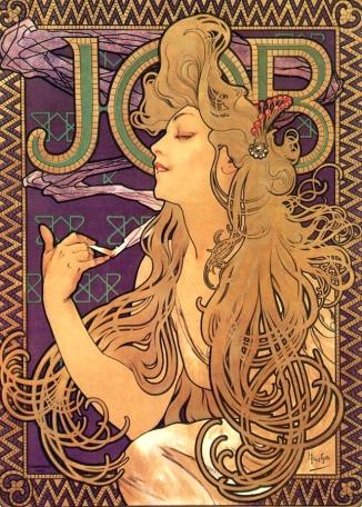 Alphonse_Mucha_-_Job_Cigarettes_1